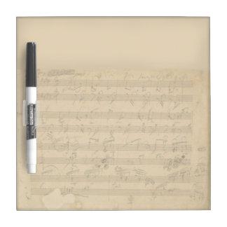 Beethoven Hammerklavier Manuscript Dry Erase Whiteboards