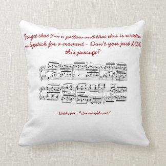Beethoven Hammerklavier Sonata Joke Throw Pillow