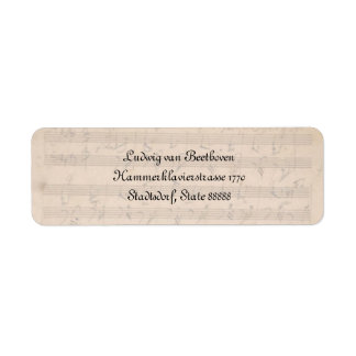 Beethoven Hammerklavier Sonata Return Address Label