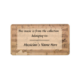 Beethoven Hammerklavier Sonata Manuscript Label Address Label