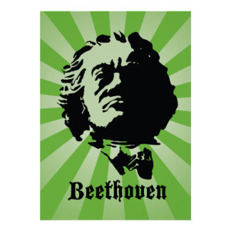 Beethoven in Green Poster
