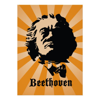 Beethoven in Orange Poster