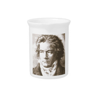 Beethoven In Sepia Drink Pitcher