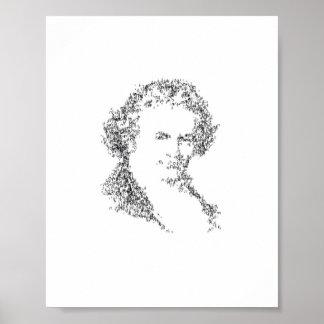 Beethoven - integrado por notas minúsculas de la m póster