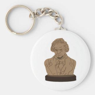 Beethoven Basic Round Button Keychain