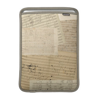 Beethoven Manuscript Medley Sleeve For MacBook Air