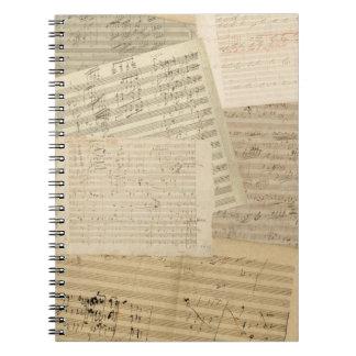 Beethoven Manuscript Medley Spiral Notebook