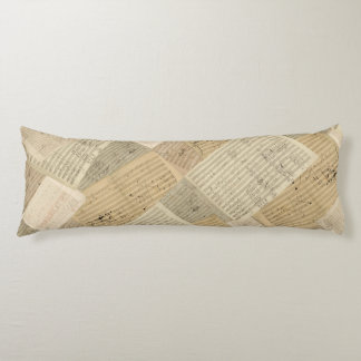 Beethoven Music Manuscript Medley Body Pillow