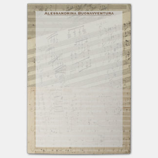 Beethoven Music Manuscript Medley Custom Name Post-it® Notes