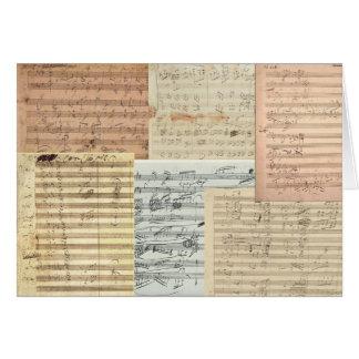Beethoven Music Manuscripts Greeting Cards