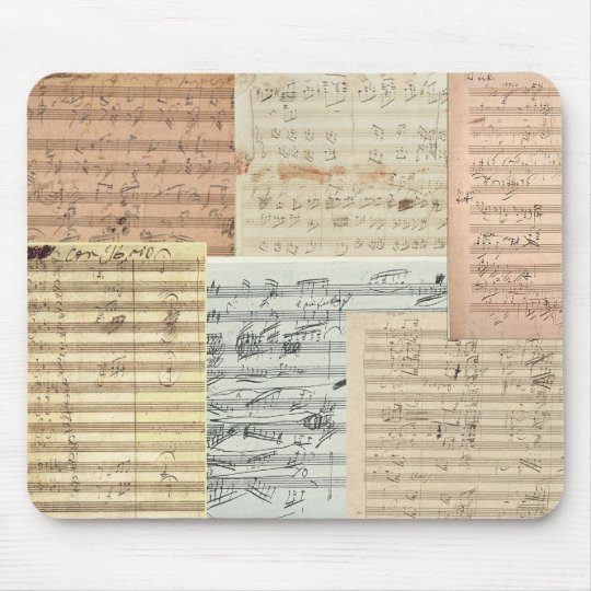 Beethoven Music Manuscripts Mouse Pad