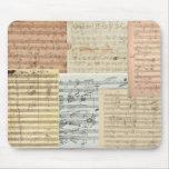 Beethoven Music Manuscripts Mousepads