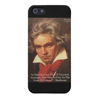 "Beethoven ""Of Heaven"" Love Quote Gifts &  Cover For iPhone SE/5/5s"
