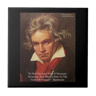 "Beethoven ""Of Heaven"" Love Quote Tiles"