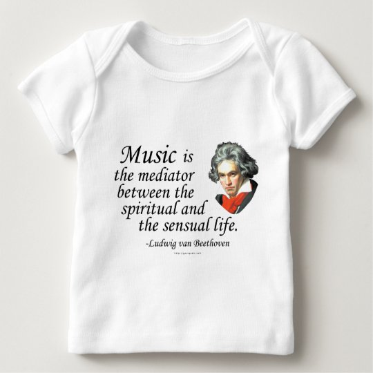 Beethoven on Music Baby T-Shirt