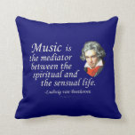 Beethoven on Music Pillows