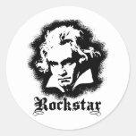 Beethoven Pegatina Redonda