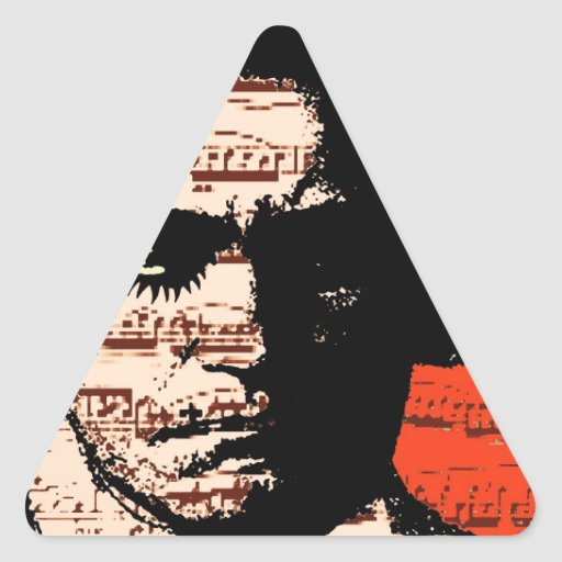 Beethoven Pegatina Triangular