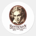 Beethoven Pegatinas Redondas