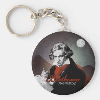 Beethoven piano virtuoso black llaveros