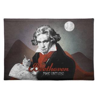 Beethoven piano virtuoso black manteles individuales