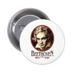 Beethoven Pin Redondo De 2 Pulgadas