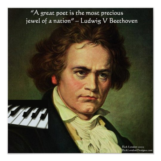 Beethoven & Poet Is A Jewel Quote Poster