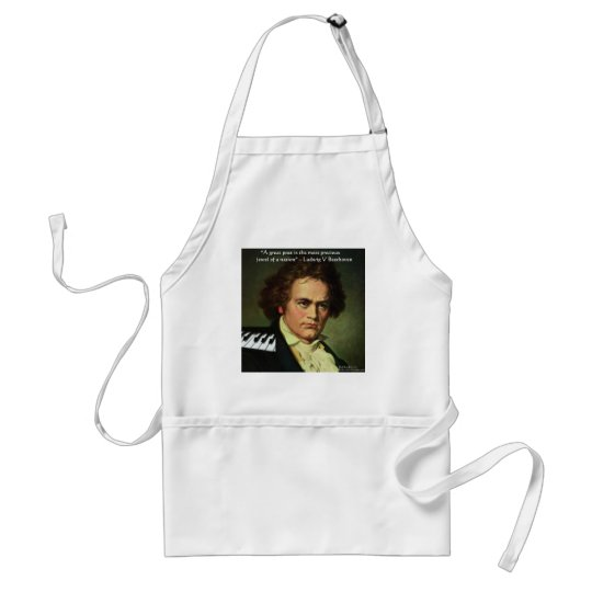 Beethoven & Poets/Gems Quote Gifts Tees & Cards Adult Apron