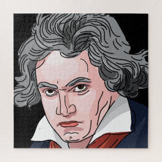 Beethoven Portrait Illustration Jigsaw Puzzle