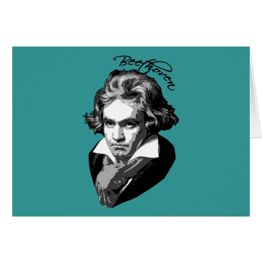 Beethoven Portrait on T shirts, Mugs, Gifts Card