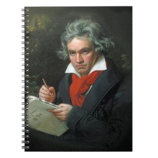 Beethoven Portrait Vintage Notebook
