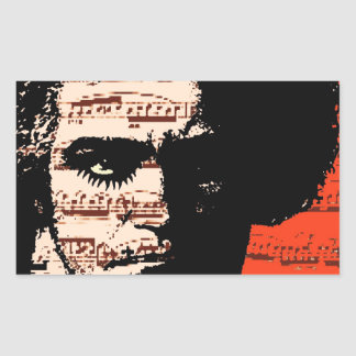 Beethoven Rectangular Sticker