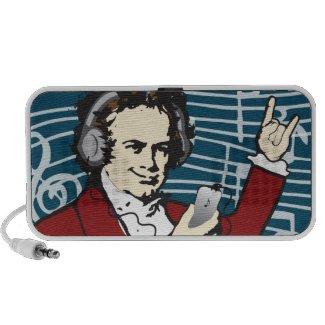 Beethoven Rocks Speaker doodle