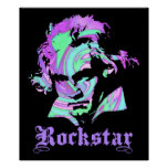 Beethoven Rockstar Poster