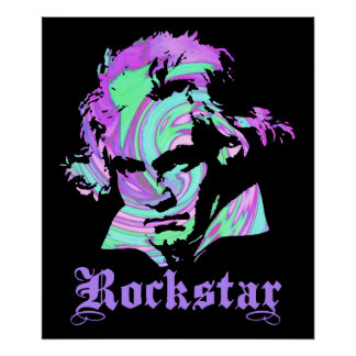 Beethoven Rockstar Póster