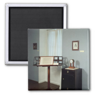 Beethoven Room displaying a music stand 2 Inch Square Magnet