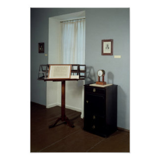 Beethoven Room displaying a music stand Poster