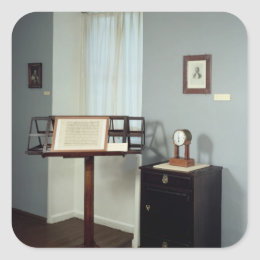 Beethoven Room displaying a music stand Square Sticker