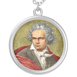 Beethoven Round Pendant Necklace