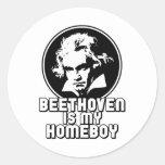 Beethoven Round Sticker