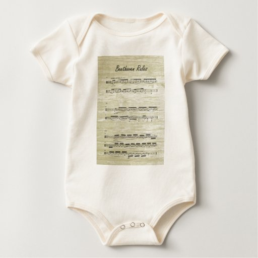 Beethoven Rules Baby Bodysuit