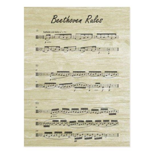 Beethoven Rules Postcard