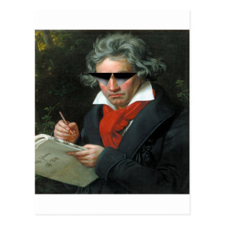 Beethoven & saunzu postcard