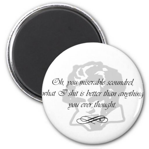Beethoven Scoundrel Quote Fridge Magnet