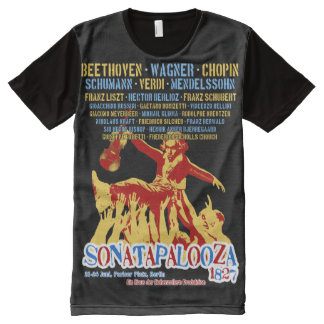 Beethoven Sonatapalooza Concert T All-Over Print T-shirt