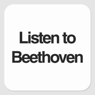 Beethoven Square Sticker