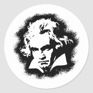 Beethoven Round Stickers