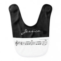 Beethoven Symphony No. 5 (Black) Bib