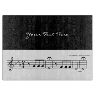 Beethoven Symphony No. 5 (Black) Cutting Board