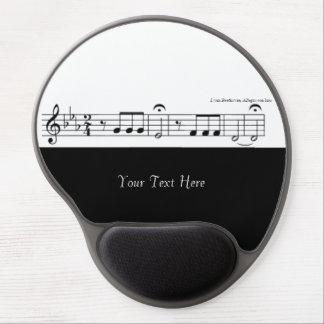 Beethoven Symphony No. 5 (Black) Gel Mouse Pad